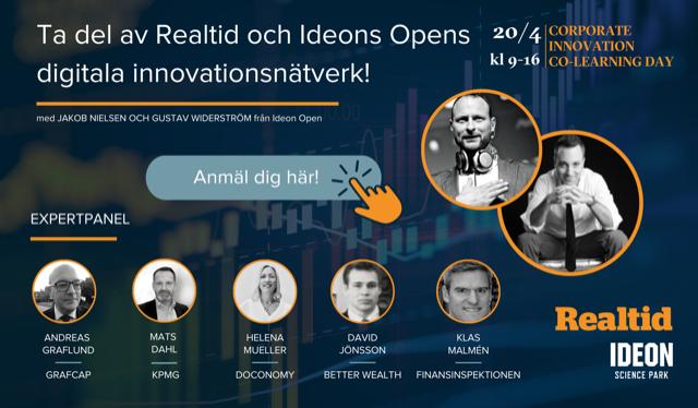 Corporate Innovation Co-Learning Day – Finans, försökring & Pension
